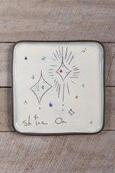 Shine On Square Plate (Small/Large)
