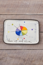 Show Up and Shine Rectangle Plate