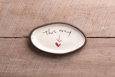 This Way to Love Mini Oval Tray