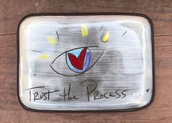 Trust the Process Rectangle Plate
