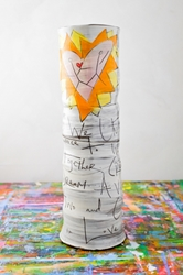Union Poem Tall Vase