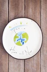 World Peace Round Plate (Small/Large)