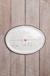 Here and Now Oval Tray